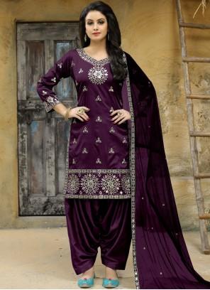 Purple Punjabi Suit
