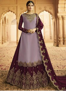 Purple Rangoli Wedding Lehenga Choli