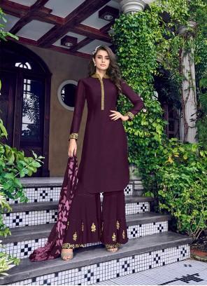 Purple Reception Salwar Suit