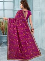 Purple Reception Trendy Saree