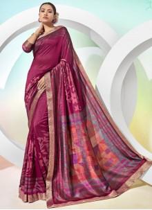Purple Silk Festival Designer Saree