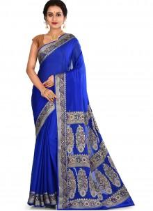 Purple Weaving Art Banarasi Silk Designer Traditional Saree