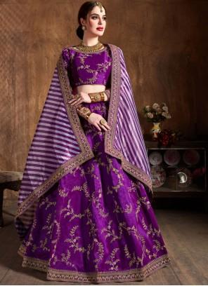 Purple Wedding Lehenga Choli