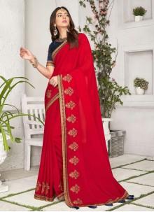 Rakul Preet Singh Red Bollywood Saree