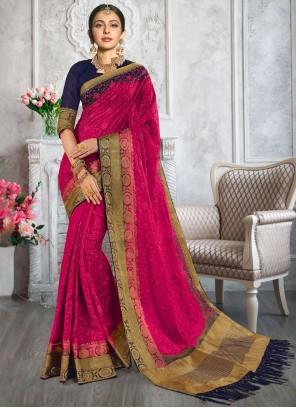 Rakul Preet Singh Magenta Fancy Designer Traditional Saree