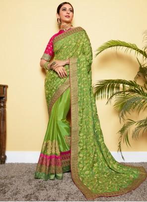 Rakul Preet Singh Modern Green Designer Traditional Saree