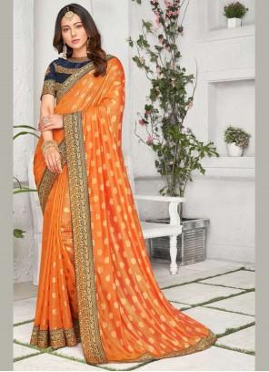 Rakul Preet Singh Orange Traditional Saree