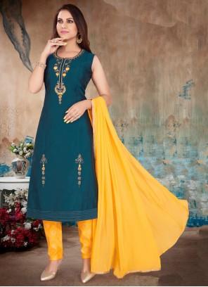 Rama Art Silk Readymade Suit