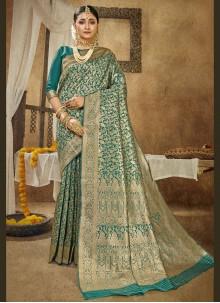 Rama Banarasi Silk Traditional Designer Saree