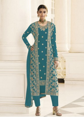 Rama Embroidered Designer Pakistani Salwar Suit
