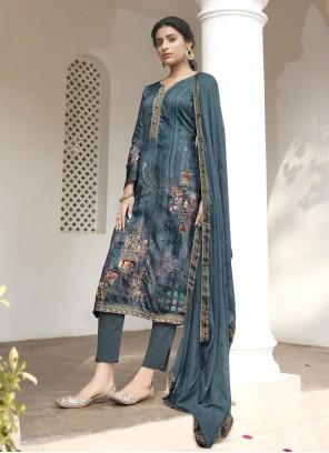 Rama Satin Designer Pakistani Suit