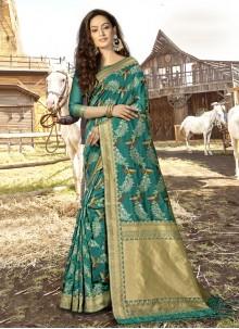 Rama Weaving Banarasi Silk Designer Traditional Saree