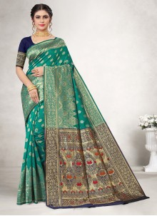 Rama Weaving Jacquard Silk Casual Saree