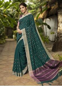 Rama Woven Traditional Designer Saree
