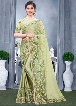 Rangoli Sangeet Green Traditional Saree