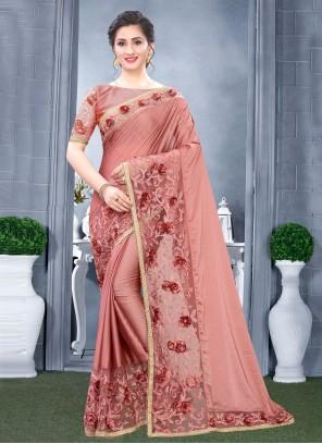 Rangoli Traditional Pink Designer Saree