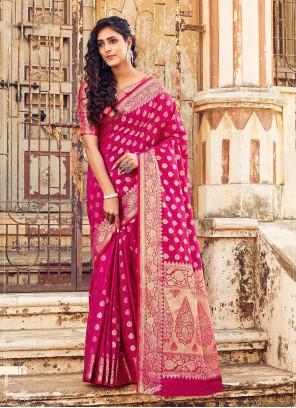 Rani Banarasi Silk Designer Traditional Saree