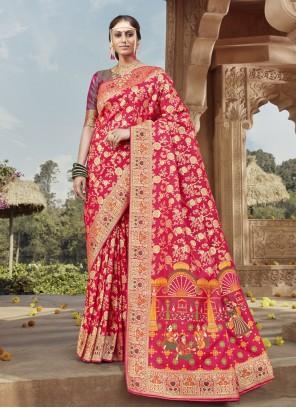 Rani Banarasi Silk Traditional Designer Saree