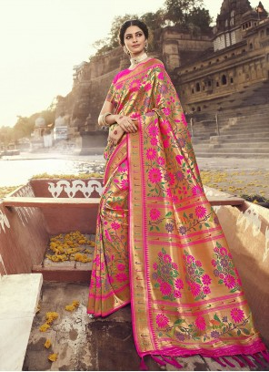 Rani Ceremonial Banarasi Silk Designer Traditional Saree