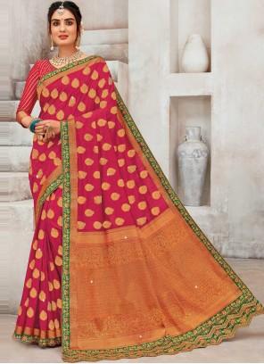 Rani Color Designer Traditional Saree