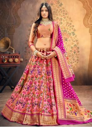 Rani Fancy Hot Pink Lehenga Choli