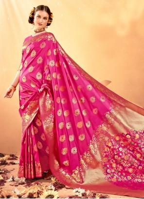 Rani Festival Traditional Designer Saree