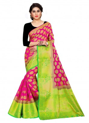 Rani Kanchipuram Silk Weaving Trendy Saree