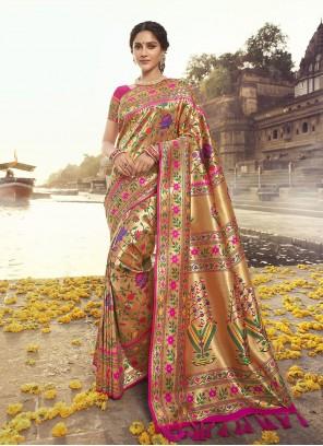 Rani Weaving Ceremonial Designer Traditional Saree
