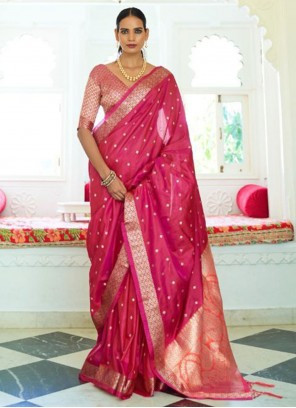 Rani Weaving Handloom silk Traditional Saree