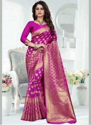 Rani Weaving Work Art Silk Designer Traditional Saree