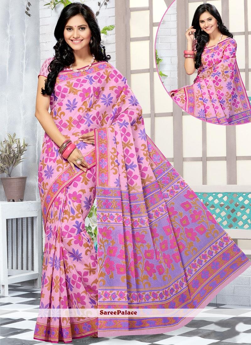 Ravishing Cotton   Abstract Print Work Printed Saree