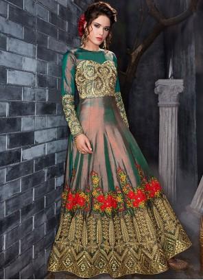 Ravishing Embroidered Work Floor Length Anarkali Suit