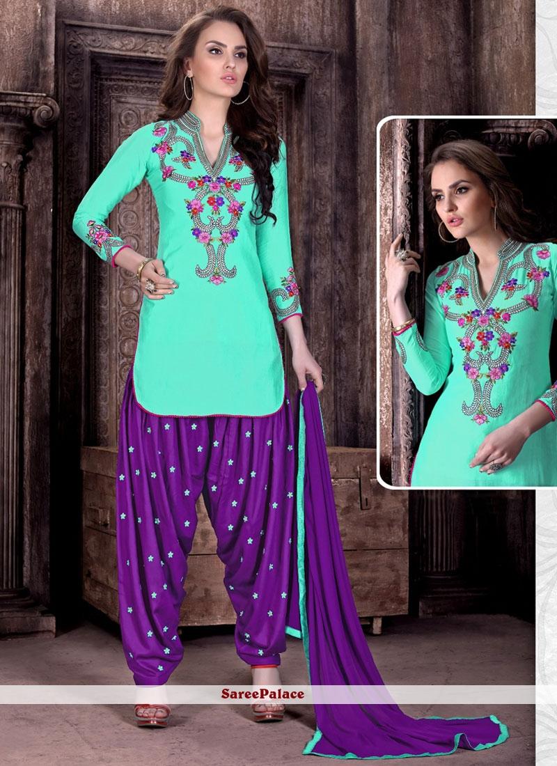 Ravishing Embroidered Work Patiala Suit