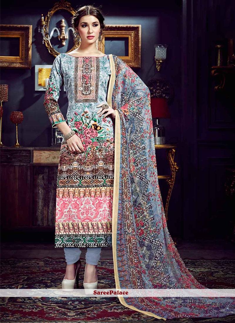 Ravishing Multi Colour Digital Print Work Cotton Silk Pant Style Suit