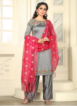 Raw Silk Salwar Suit