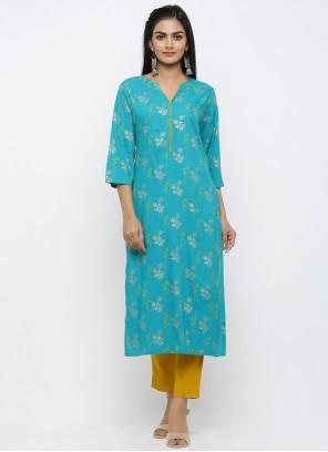 Rayon Blue Salwar Kameez