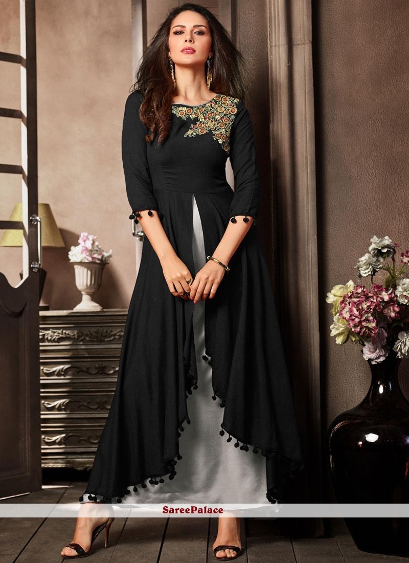 Rayon Casual Kurti in Black