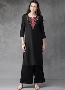 Black Rayon Designer Kurti