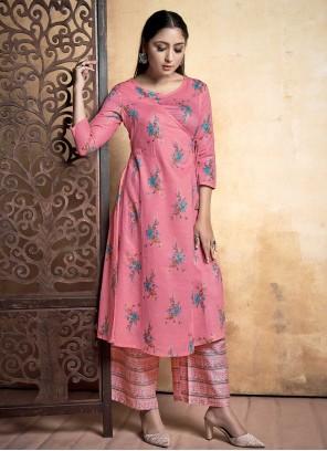 Pink Rayon Designer Kurti