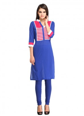 Rayon Designer Kurti in Blue