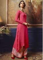 Rayon Fancy Hot Pink Party Wear Kurti