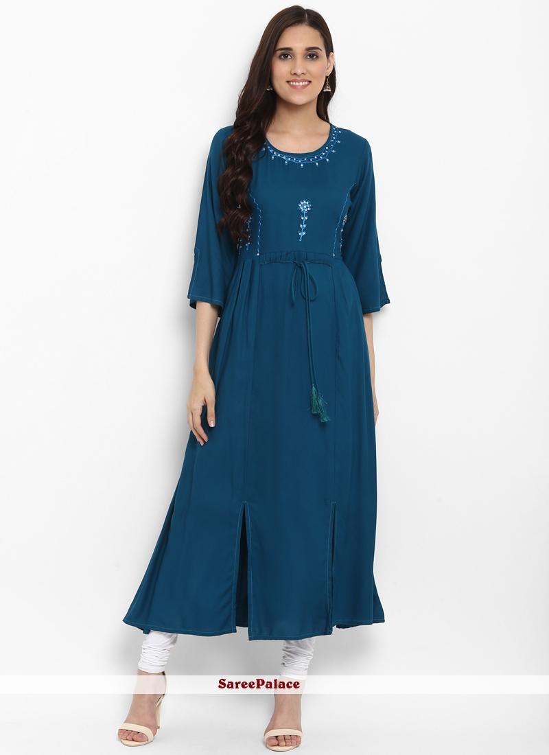 Rayon Kurta in Blue