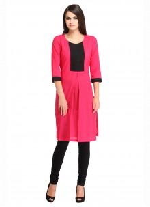 Rayon Print Pink Salwar Kameez