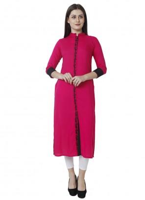 Rayon Rani Fancy Designer Kurti