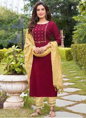 Rayon Resham Pant Style Suit