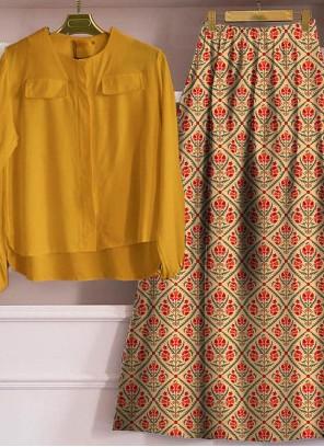 Rayon Yellow Trendy Lehenga Choli