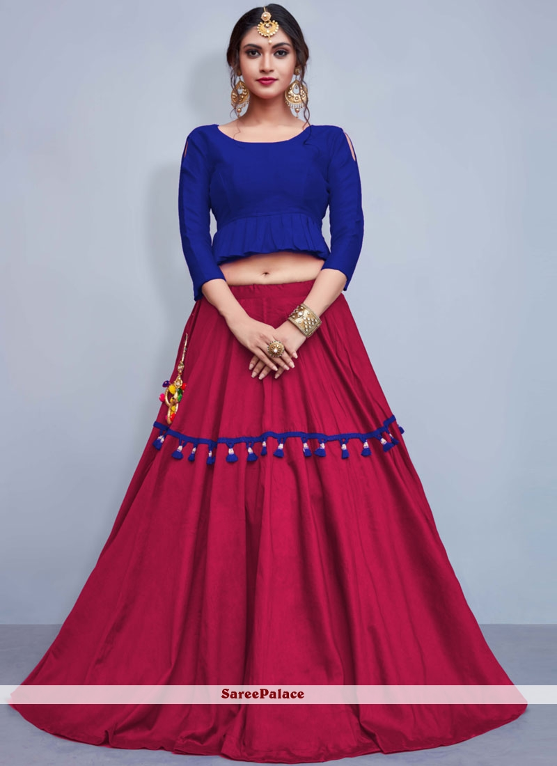Hot Pink Readymade Lehenga Choli For Mehndi