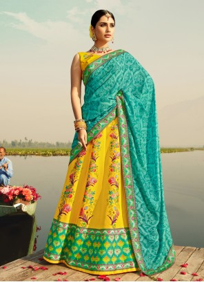 Yellow Readymade Lehenga Choli For Sangeet