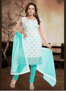 Blue Readymade Suit For Festival