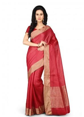 Red Art Banarasi Silk Weaving Designer Traditional Saree